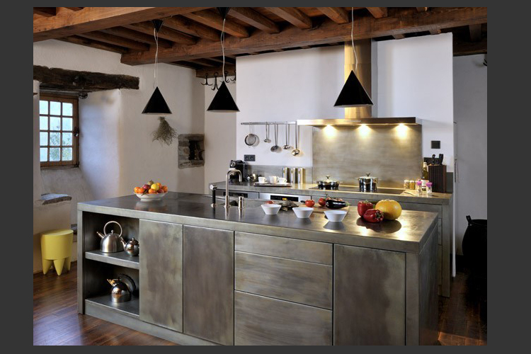 Mobilier silice cambium for Meuble cuisine metal
